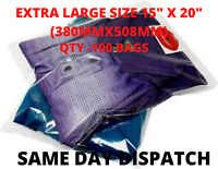 """100 x Large 15 x 20"""" Self Seal Clear Cello Cellophane Bags Plastic Apparel Bags"""