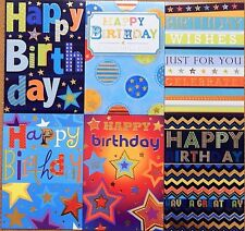Pack of 6 Childrens Boys Kids Birthday Cards Pack of Male Mens Birthday Cards /D