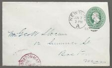 1878 New  York A Cover to Boston Mass with Cancels