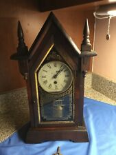 Antique Cathedral Shelf/Mantel Clock Early Period - Working