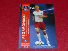 [COLLECTION SPORT FOOTBALL] PROGRAMME PSG / MONACO 24 AOUT 2003 Champ.France