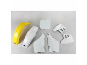 Kit plastique UFO type origine blanc / jaune Suzuki RM 125 1992