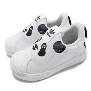 adidas Originals Superstar 360 I Panda White Black Toddler Slip On Casual Q46175