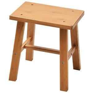 Wooden Fishing Kitchen Bathroom Garden Square Foot Rest Step Chair Bench Stool