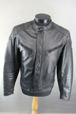 CLASSIC POLO BLACK LEATHER BIKER JACKET 38-40 INCH/MEDIUM