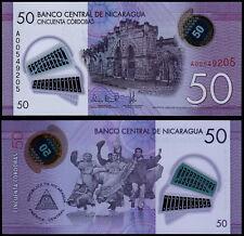 NICARAGUA 50 CORDOBAS (P212) 2015 POLYMER UNC