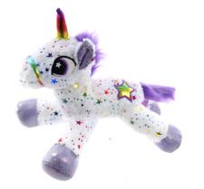 "Nouveau 13"" Sparkle Star Unicorn Plush Soft Toys Peluche Cheval Teddy Blanc Licorne"