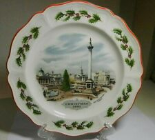 1981 Wedgwood Queen's Ware Christmas Collector Plate Trafalgar Square London-Vtg