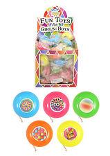 12 x Pocket Yoyo Yo Yo Return Top Childrens Party Bag Pinata Filler Toy Prize