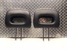 97-01 HONDA CR-V CRV FRONT OR REAR SEAT HEAD RESTS HEADREST SET BLACK LEATHER