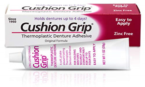 Cushion Grip - A Soft Pliable Thermoplastic Denture Adhesive for Refitting and 1