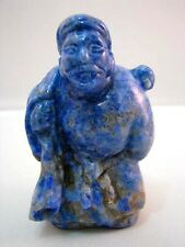 Netsuke Lapislazuli China Figur Lapis Lazuli Chinese Figure Figurine - 5