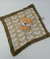 Carter's Lovey Baby Cuddle Blanket Fox Brown Orange Security Toy Autumn Fall