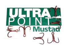 100 Mustad KVD-Elite RED Triple-Grip 1X Treble Hooks Size 4 TG76NP-RB UltraPoint