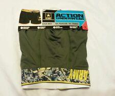 Men Boxer Brief Action Underwear Size S 28-30 U.S. Army Green