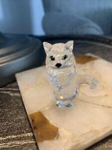 Swarovski Crystal Sitting Cat Figurine
