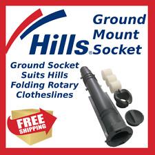 Hills Rotary Folding Hoist Ground Socket Suits Hills Clothes Line Clothesline