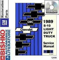 OEM Repair Maintenance Shop Manual CD Chevy Truck & Gmc S-10 / S-15 Truck 1989