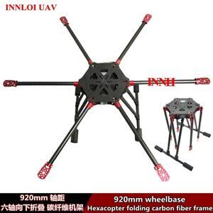 DIY 920mm folding carbon fiber frame Hexacopter for Aerial photographs UAV Drone