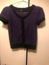 Topshop Purple And Black Angor Wool Cardigan Size 8