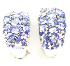 Tanzanite (Rounds, Ovals & Pears) Lever Back Earrings, TGW 6.07,  Sterl Silver