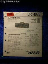 Sony Service Manual CFS 1030 Cassette Corder (#0357)