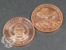 "1/2 Oz Copper Bullion ""Lakota Papa Hunk - Sitting Bull"" Design AOCS Approved"