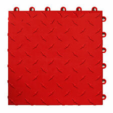 Speedway Garage Tile Mfg. Red Garage Floor Tiles - Diamond plate