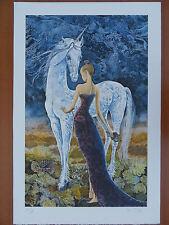 Pierre LE COLAS : Femme et la licorne # LITHOGRAPHIE SIGNEE ET N° # FANTASTIQUE