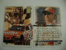 PRESS PASS  VIP '99 TONY STEWART/HOME DEPOT  ON MINT CARD #48