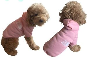 The Dog Face Pink Sweater Hoodie XS For Small Breeds Cotton Comfy Cute US SELLER