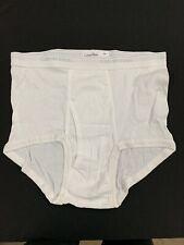 Vtg Calvin Klein Mens White Cotton Hip Briefs Underwear NEW Size 34 USA