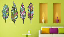 ced443 Full Color Wall decal Sticker feather art living room bedroom