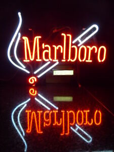 ENDANGERED SPECIES: Authentic Marlboro Cigarettes Neon Advertising Sign