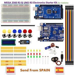 DIY Kit MEGA 2560 UNO R3 Breadboard LED LCD SG90 Jumper Wire Button for Arduino