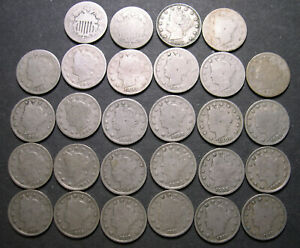 1868-1912 Shield and V-Nickel collection almost complete w/ all different dates