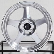 "4-New 15"" Vors SP1 Wheels 15x8 4x100 20 Silver Machined Rims"