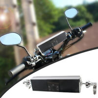 12V 30W Motorcycle Bluetooth Audio Speaker USB MP3 LED Flowing  Sequential Light