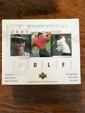 2001 UPPER DECK GOLF BOX /  5 CARDS PER PACK / 24 PACKS  / TIGER WOODS RC PGA