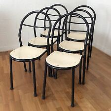 RENE HERBST Chaise FRENCH Bauhaus TUBULAR Dining chair Midcentury cf Hitier RMS
