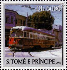 PCC Streetcar Tram (USA / Canada) Street Car Tramway Stamp (2003)