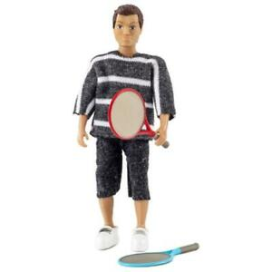 Dolls House Lundby Modern Dad Father with Tennis Rackets