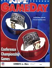 1994 NFC Championship Program Cowboys v 49ers Rare 1/23 Texas Stadium Ex 41029b7