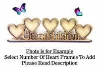 GRANDCHILDREN Build Your Own Wooden MDF Photo Frame, Mothers Day PL54 - OPTIONS