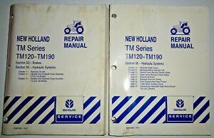 New Holland TM120/130/140/155/175 TM190 Tractor HYDRAULICS BRAKES Repair Manuals