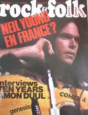 MAGAZINE ROCK & FOLK N° 74 de 1973 NEIL YOUNG TEN YEARS AMON DUUL CLAPTON