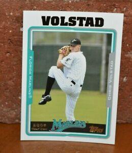 CHRIS VOLSTAD FLORIDA MARLINS 2005 FIRST YEAR CARD BASEBALL