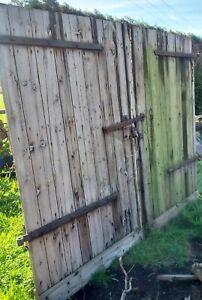 Very Large Double Doors Barn Doors Reclaimed Wooden Antique Vintage