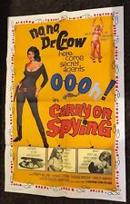 CARRY ON SPYING 1sh '64 sexy English spy spoof, the most secrets exposed!