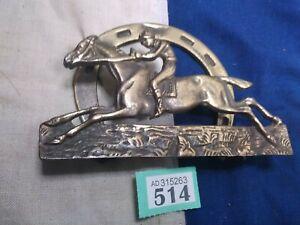Vintage Brass Horse Racing Letter Rack